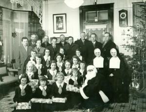 Noël à l'école du Sacré-Cœur, dans les années 1940-1950